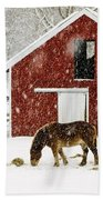Vermont Christmas Eve Snowstorm Hand Towel