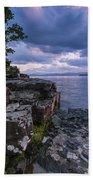 Vermont Lake Champlain Sunset Clouds Shoreline Bath Towel