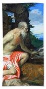 Veronese's Saint Jerome In The Wilderness Bath Towel