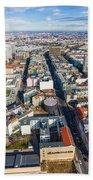 Vertical Aerial View Of Berlin Bath Towel