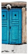 Very Blue Door Bath Towel