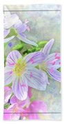 Very Tiny Wildflower Boquet Digital Paint Bath Towel