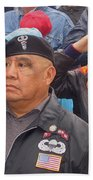 Veterans Saluting Passing Flag In A Parade Sacaton Arizona 2005-2013 Bath Towel