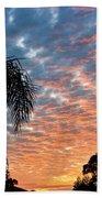 Vibrant Winter Sunset Bath Towel