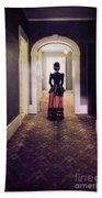 Victorian Lady In Hallway Bath Towel