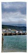 View From Back Beach - Lyme Regis Bath Towel