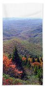View From Devil's Courthouse Mountain Bath Towel