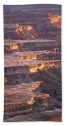 View From Grandview Point Canyonlands Bath Towel