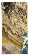 View From Lower Falls Of The Yellowstone River  Bath Towel