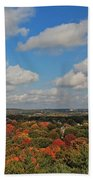 View From Mt Auburn Cemetery Tower Bath Towel