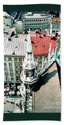 View From The Top Of Munich City Hall Bath Towel