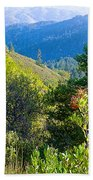 View From Trail To West Point Inn On Mount Tamalpais-california  Bath Towel