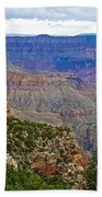 View From Walhalla Overlook On North Rim Of Grand Canyon-arizona  Bath Towel