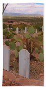 View Of Arizona From Boothill Cemetery Bath Towel