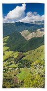 View Of Arthur Range In Kahurangi Np Of New Zealand Bath Towel