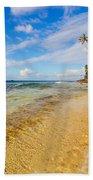 View Of Caribbean Coastline Bath Towel