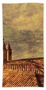 View Of Lake Como Over The Rooftop Of Villa Monastero Bath Towel