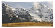View Of Mt Eiger And Mt Monch, Kleine Hand Towel