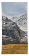 View Of Mt Eiger And Mt Monch, Kleine Bath Towel
