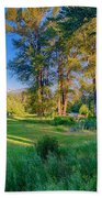 View Of Mt Gardner From Cottonwood Cottage Bath Towel