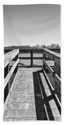 View Of The Elkhorn Slough From A Platform.  Bath Towel