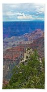 View Two From Walhalla Overlook On North Rim Of Grand Canyon-arizona Bath Towel
