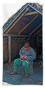 Viking Fisherman At L'anse Aux Meadows-nl  Bath Towel