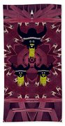 Vikings  And Leather Pop Art Bath Towel