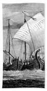 Vikings Cross The North Sea Bath Towel