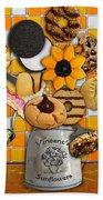 Vincent's Sunflower Cookie Jar Bath Towel