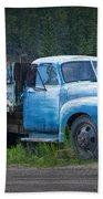 Vintage Blue Chevrolet Pickup Truck Bath Towel
