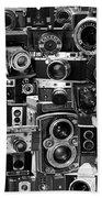 Vintage Camera Montage Bath Towel