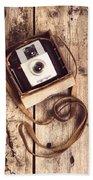 Vintage Camera Bath Towel
