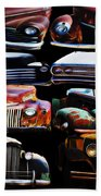 Vintage Cars Collage 2 Bath Towel