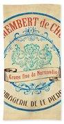 Vintage Cheese Label 4 Bath Towel