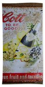 Vintage Cott Fruit Juice Sign Bath Towel