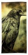 Vintage Crow Bath Towel