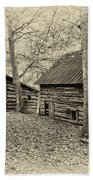Vintage Farm Buildings Bath Towel