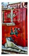 Vintage Fire Truck Hand Towel