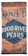 Vintage Hood River Pear Crate Bath Towel