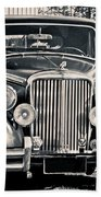 Vintage Jaguar 1950s Bath Towel