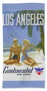 Vintage Los Angeles Travel Poster Bath Towel