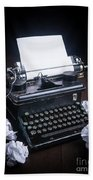 Vintage Manual Typewriter Bath Towel