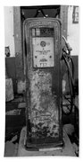 Vintage Old Gas Pump Bath Towel