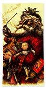 Vintage Original Coca Cola Red Santa Claus Poster Bath Towel