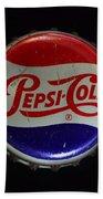 Vintage Pepsi Bottle Cap Bath Towel