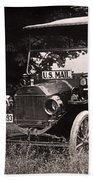 Vintage Photo Of Rural Mail Carrier - 1914 Bath Towel