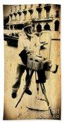 Vintage Photographer Tintype Bath Towel