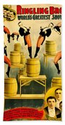 Vintage Poster - Circus - Ringling Bros Hand Towel