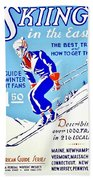 Vintage Poster - Sports - Skiing Bath Towel